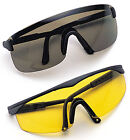 SPORTS GLASSES  GREEN OR YELLOW LENSES AVAILABLE