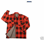 Extra Heavy Weight Sherpa Lined Flannel Shirt Red/Black Plaid