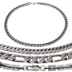 "20"" Men Stainless Steel Variety Chain Necklace-4 Styles"