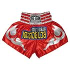 'KB' RED & SILVER DUO MUAY THAI KICKBOXING SHORTS