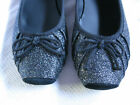 Youth Girls Jessica Simpson Black Sparkle Dress Shoes slip on shoe