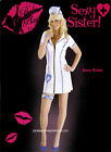 ROLE PLAY  SEXY SISTER PVC FANCY DRESS WHITE NURSE COSTUME,DOCTOR,UNIFORM