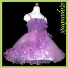 USMD12 Purple Dance Formal Evening Princess Girls Dress 2,3,4,5,6,7,8,9,10Yrs