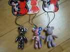 CUTE BEAR HANDBAG MOBILE CHARM MOVING ARMS SILVER USA