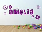 Girl's Personalised Name Wall Sticker For Bedroom Wall.
