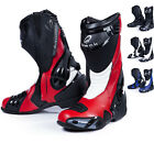 BLACK VENOM RACE TRACK ROAD MOTORCYCLE MOTORBIKE SPORT PERFORMANCE BOOTS