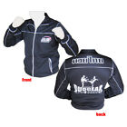 BLACK 'SLIM FIT' MUAY THAI KICKBOXING MMA TRACKSUIT TOP