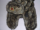 QUALITY  MEN'S LADIES FAUX FUR RUSSIAN TRAPPER SKI  WINTER HAT 58-61CM (t1