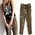 ph12 Celebrity Style Casual Loose Fit Leopard Print Harem Pants Trousers