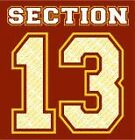 "USC t-shirt ""Section 13"" NCAA Football Apparel Cardinal & Gold"