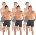 Value Pack Of 6 Thermal Underwear Trunks Boxer Shorts Denim, Various Sizes