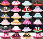 DOUBLE COLOR Multi-List Pettiskirt Skirt Petti Party Dance Tutu Dress Girl 1-8Y
