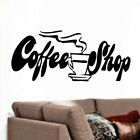NEW COFFEE SHOP KITCHEN VINYL WALL STICKERS ART DECAL