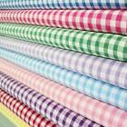 1/4 INCH POLYCOTTON CORDED GINGHAM FABRIC per metre FAVOURITE FABRICS retro