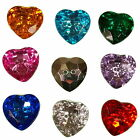 Acrylic Crystal Effect Heart Shape Buttons Size & Colour Choice