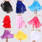 Hot!  New Dancing Costumes Belly Dance Spiral Skirt 3 layers circle 9 colors