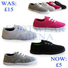 Boys Girls Kids Infants Toddlers Canvas Plimsole Pumps Shoes Trainers UK 6-2
