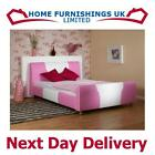 "Stunning Cheeky 3ft 6"" Large Single Faux Leather Bed Free Next Day Delivery"