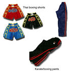 Thai kickboxing shorts; Karate/full contact  pants/trousers - FREE  p&p