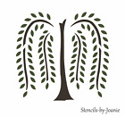 Primitive Willow Tree STENCIL Folk Art Country Home Decor Overlay 2 pc Art signs