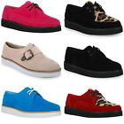 29O WOMENS LACE UP FUNKY PLATFORM WEDGE FLAT HEEL LADIES CREEPERS SHOES SIZE 3-8