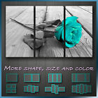 ' Stunning  Rose Love ' Turquoise/Teal Flower Art Canvas Box ~ Hand Made in UK