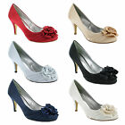 New Ladies High Heel Bridal Party Evening Prom Court Sandals Size UK 3 4 5 6 7 8