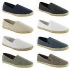 New Mens Canvas Plimsolls Slip On Plims Espadrilles Trainers Shoes Size UK 7-12