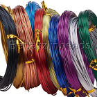 60 Feet 20 Gauge Colored Round Aluminum Jewelry Wrapping Craft Wire 0.8mm Thick