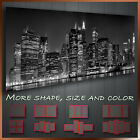 ' New York City Skyline ' Black & White Panoramic Cityscape Modern Canvas Art