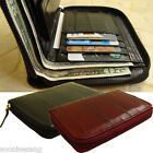 Genuine Eel Skin Zipper Around Wallet Zip-Around Purse (medium-sized wallet)