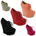 Ladies High Heel Wedge Platform Sandals Lace Up Ankle Boots Sizes UK 3 4 5 6 7 8