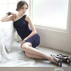 Lady/ Women Fashion one Shoulder Sexy Dress Black/Purple