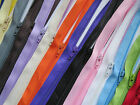 "Closed End Zippers 8"" Sewing Craft Clothing Accessories Zips Assorted Colours"