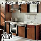 Kitchen Door Cabinet Covering Mid Walnut Sticky Vinyl Lots of Sizes - Premium