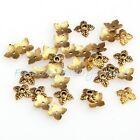100Pcs Retro Silver/Golden/Bronze Tone clover Bead Caps 6mm