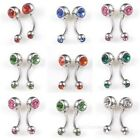 Fee Ship 10/30pcs Navel Belly Ball Multicolour Crystal Jewelry Piercing SP8520