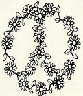 WINDOW, TRUCK, CAR, TRILER, ATV ( PEACE SIGN WITH FLOWERS )VINYL DECAL STICKER