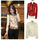 Hight Qualty Bow Tie Lotus Leaf Women's T-Shirts Soft Slim Waist Tops Blouse