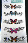 1 x SHEET LADIES BUTTERFLY BANDS ARTY EYES FLOWERS TEMPORARY TATTOOS UK SELLER