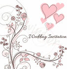 Wedding Invitations - Drawn Out Love Roses handmade matching Stationery ribbon