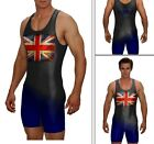 WRESTLING SINGLET GREAT BRITAIN CUSTOM WITH YOUR NAME ON THE BACK ALL INCLUDED