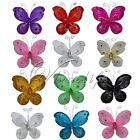 "50 of 3""(7.62cm) Nylon Glitter Artificial Butterfly Rhinestone Wedding Favor"