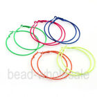 10pcs New Stylish Fluorescence Color Circle Basketball Wives Hoop Earrings 56mm