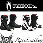RICHA DRIFT WATERPROOF MOTORCYCLE MOTORBIKE BIKE SPORTS BOOTS WITH RACE SOLE