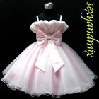 UKMD65 L.Pink Wedding Pageant Flower Girl Dress 1,2,3,4,5,6,7,8,9,10,11,12-14 Y