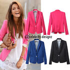 bp5 CFLB Womens Casual Candy Color Blazer Ladies Fitted Smart Work Office Jacket