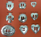 YOUR CHOICE 12 50 100 Western Conchos Round Large Oval Heart Arrowhead T Bird