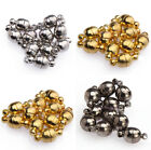 10 Sets Silver/Gold/Black Plated Magnetic Clasp Round Shaped Ball 6/8mm