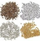 Lots 500/3000pcs Silver/Gold Plated Metal Round Spacer Beads For Craft 2.5mm